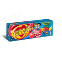 Жевательная резинка Love is Клубника Банан 5 в упаковке 21 грамм