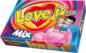 Жевательная резинка Love is Микс 9 в упаковке 37,8 грамм