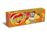 Жевательная резинка Love is Апельсин Ананас 5 в упаковке 21 грамм