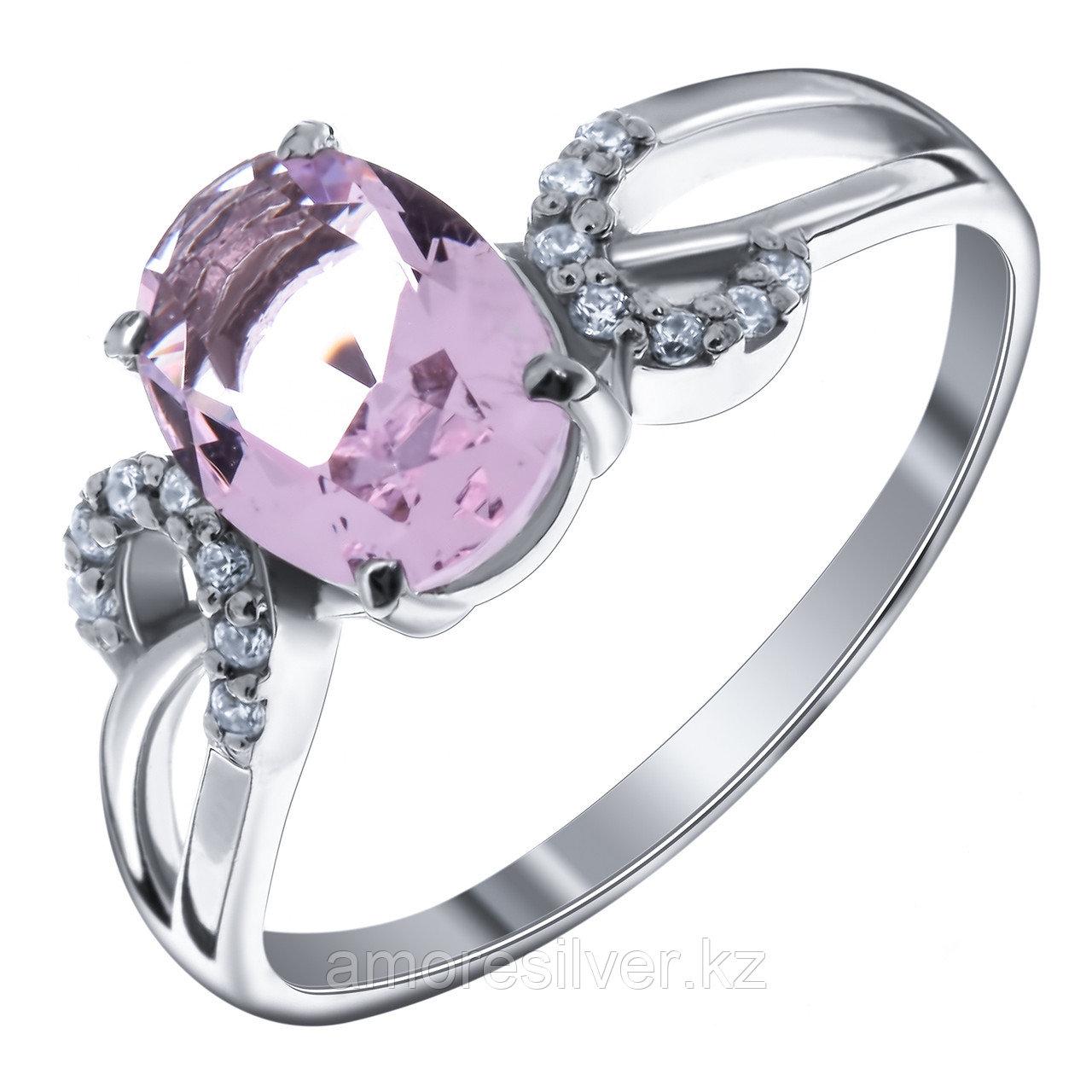 "Кольцо Teosa серебро с родием, фианит, ""halo"" 1-31-Р-ТМ"