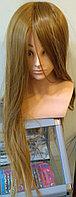 Учебная голова болванка, искусственные волосы коричневые