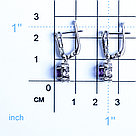 Серебряные серьги с аметистом и фианитом   Teosa E-DRGR00747-AM, фото 2