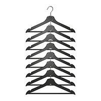 Плечики БУМЕРАНГ 8 шт. черный ИКЕА, IKEA , фото 1