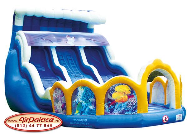 Надувной большой батут для детей Волна