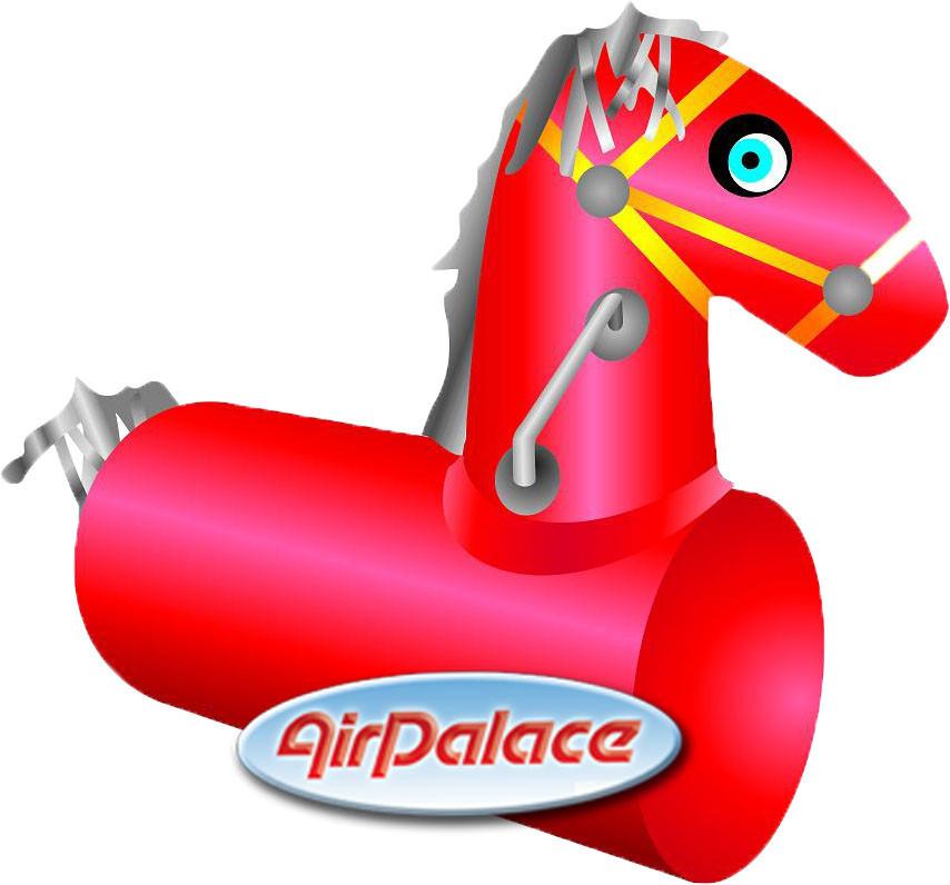 Конь - лошадиные скачки на надувном мягком модуле