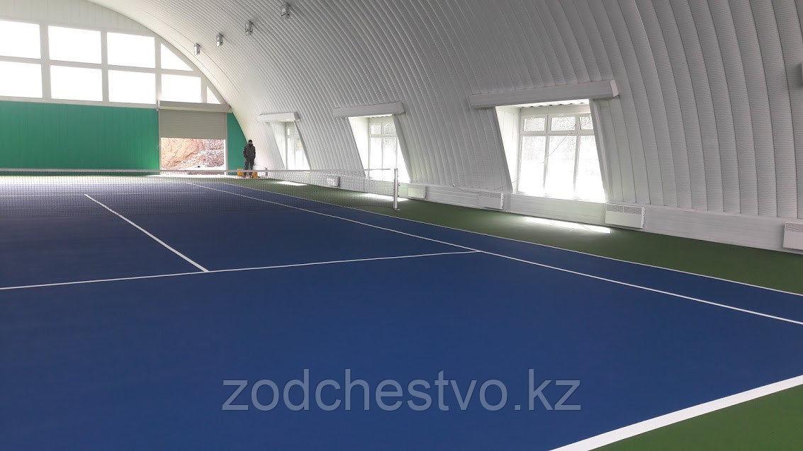 Концепт-проект теннисного корта в бескаркасном арочном здании