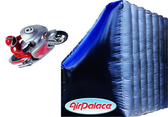 Надувной мотоотбойник для спортивных гонок