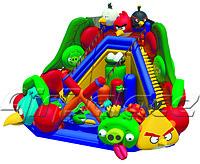 Надувной большой батут Веселое гнездо