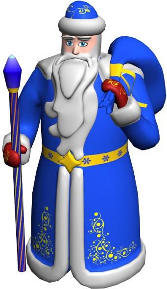 Большая надувная фигура Дед Мороз 6 м