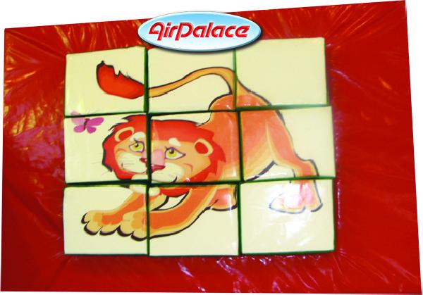 Развивающая детская мозаика краб-лев