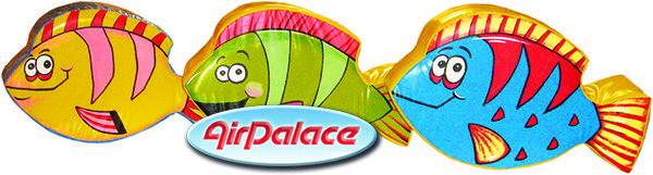 Рыбки - мягкий детский безопасный пуфик