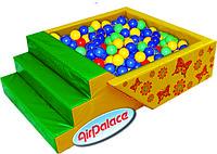 Сухой шариковый бассейн с горкой Летний