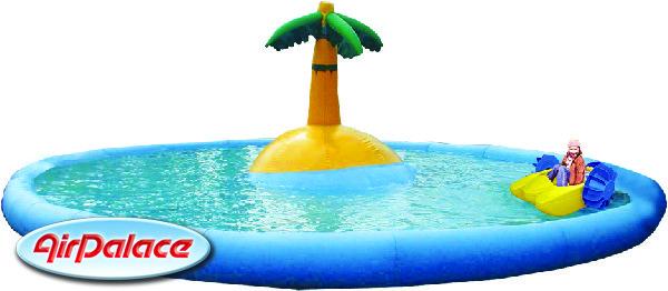 Надувной бассейн Необитаемый остров