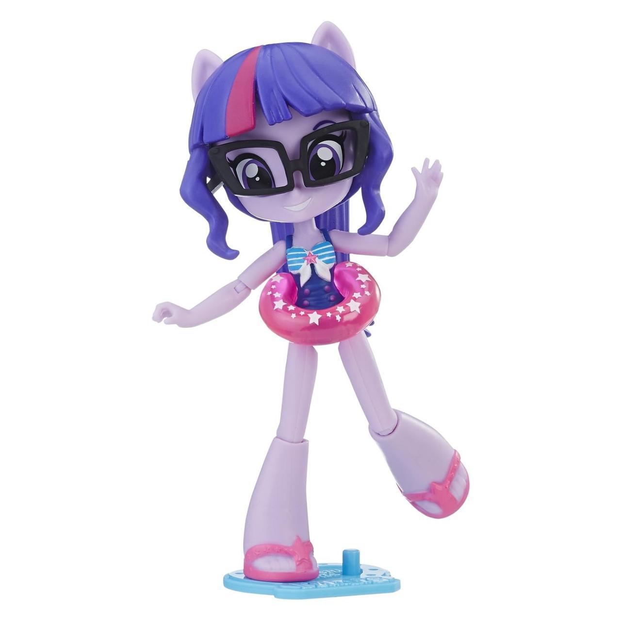 Hasbro My Little Pony Equestria Girls Minis Кукла Искорка на пляже, Твинлайт Спаркл
