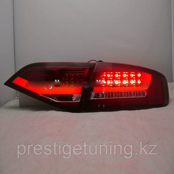 Задние фары A4L B8 LED Strip Rear lamp 2009-2012 year Smoke Black Color