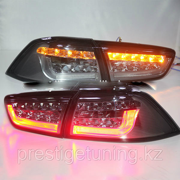 Задние фары Lancer Exceed LED Tail Lamp for Mitsubishi Red Color Smoke Black Color 2008-13