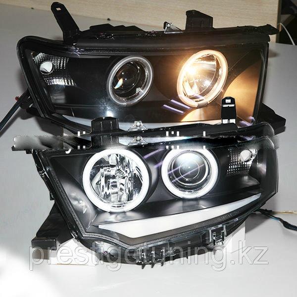 Передние фары Pajero Angel Eyes Type 3 2000 to 2008