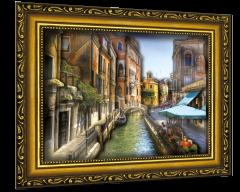 """Объемный постер """"Венецианская улочка"""""""