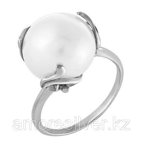 Кольцо Teosa серебро с родием, флора КЛ-9352