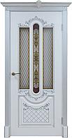 "Дверь под заказ ""Александрия""(патина серебро)"