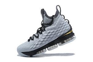 "Баскетбольные кроссовки Nike Lebron 15 (XV) from LeBron James ""Grey"", фото 2"