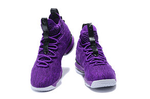 "Баскетбольные кроссовки Nike Lebron 15 (XV) from LeBron James ""Purple"", фото 2"