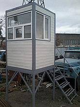 Посты охраны с постаментом, домик охранника, охранная будка, КПП. Алматы. Размер1,5м х 1,5м х 2,3м