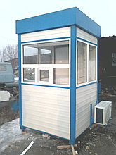 Пост охраны с кондиционером, домик охранника, охранная будка, КПП. Алматы. Размер1,5м х 1,5м х 2,4м