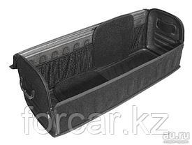 Органайзер FicoPro в багажник 80x26x30  (алькантара) черный, открытие спереди, фото 3