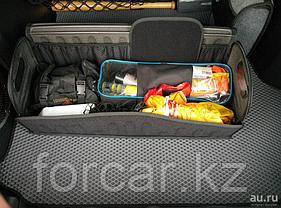 Органайзер FicoPro в багажник 80x26x30  (алькантара) черный, открытие спереди, фото 2