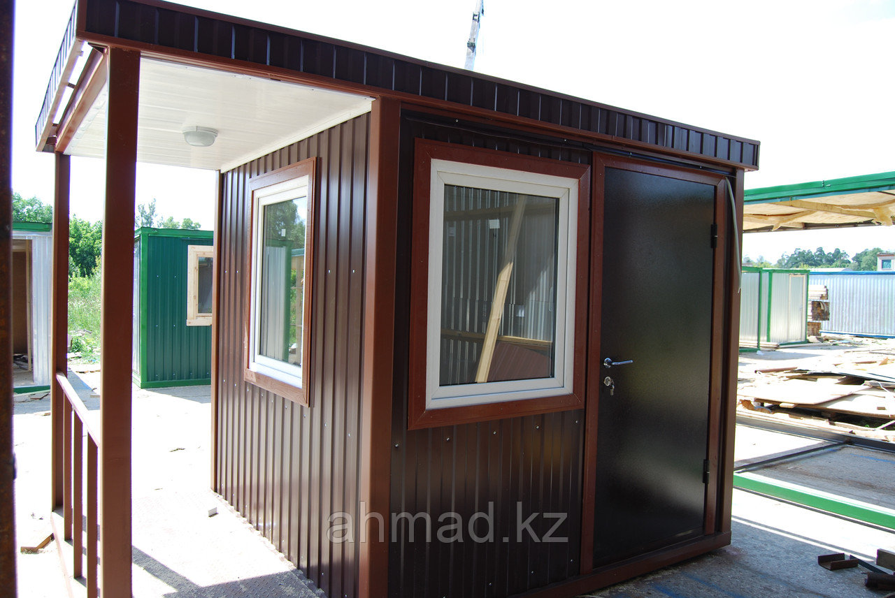 Пост охраны с проходной, домик охранника, охранная будка, КПП. Алматы. Размер 2м х 2м х 2,2м