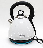Электрический чайник MYLONG MY-3030, нержавеющая сталь, белый, 3 л.
