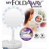 Косметическое зеркало с подсветкой My Foldaway Mirror, фото 3