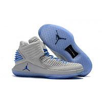 Баскетбольные кроссовки Nike 2017 Air Jordan 32 XXXII Wolf Grey/Blue