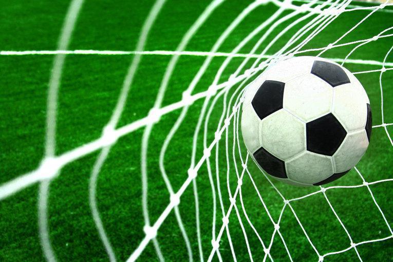 Сетка для футбольных ворот Большой футбол 2 шт/белая