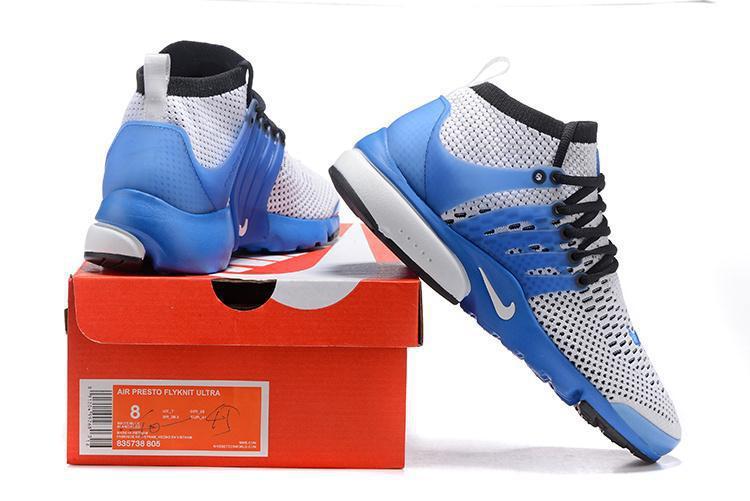 Кроссовки Nike Air Presto Ultra Flyknit Gray Blue - фото 4