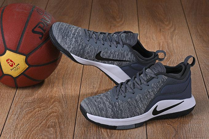 Баскетбольные кроссовки Nike Lebron Air Zoom Witness 2 Grey Black White - фото 2