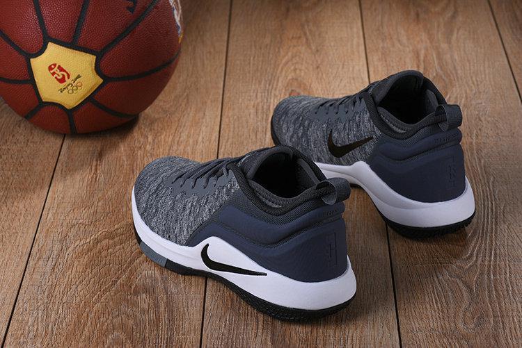 Баскетбольные кроссовки Nike Lebron Air Zoom Witness 2 Grey Black White - фото 3