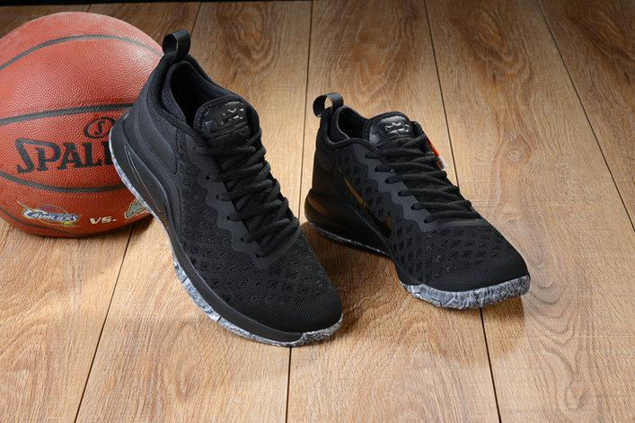 Баскетбольные кроссовки Nike Lebron Air Zoom Witness 2 Flyknit Triple Black - фото 3
