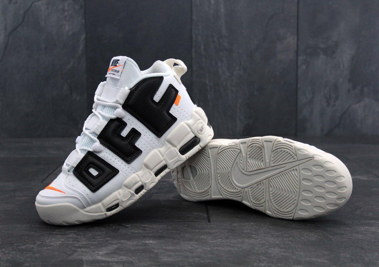 Кроссовки баскетбольные Nike Air More Uptempo X OFF WHITE - фото 4