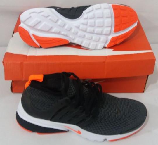 Кроссовки Nike Air Presto Ultra Flyknit Gray Orange - фото 2