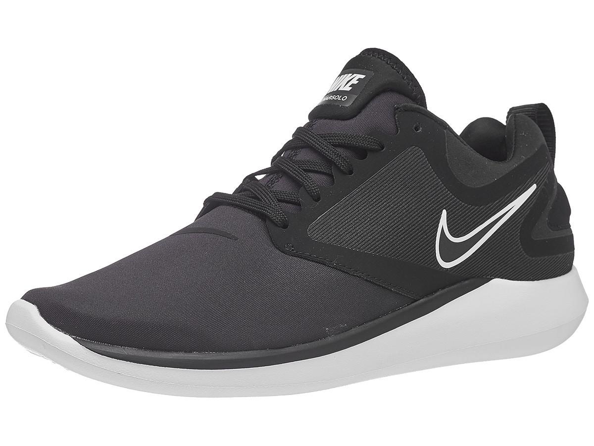 Беговые кроссовки Nike LunarSolo Black White - фото 1