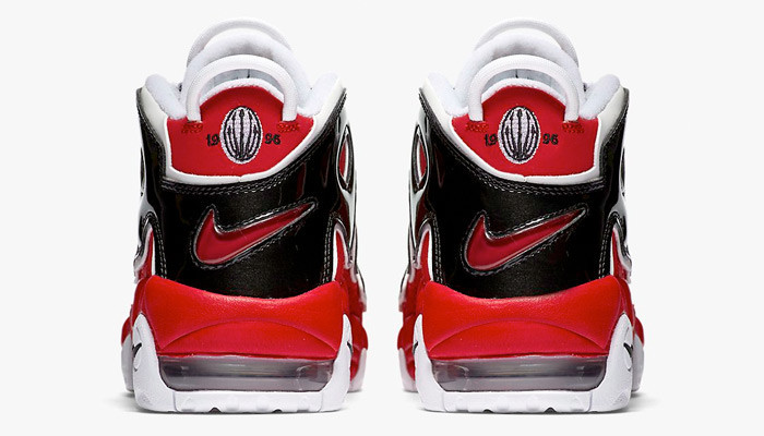 Кроссовки баскетбольные Nike Air More Uptempo Red Black - фото 3