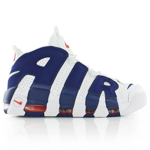 Кроссовки баскетбольные Nike Air More Uptempo White Blue - фото 1