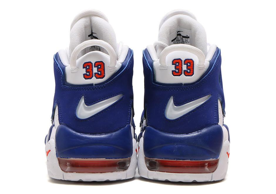 Кроссовки баскетбольные Nike Air More Uptempo White Blue - фото 3