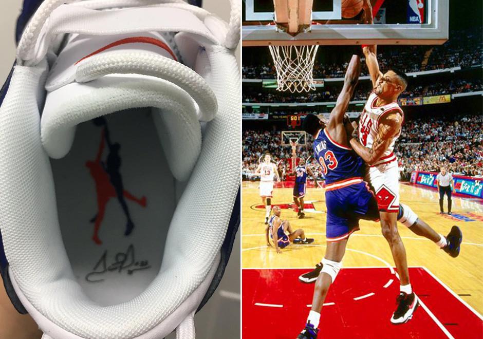 Кроссовки баскетбольные Nike Air More Uptempo White Blue - фото 4