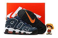 Кроссовки баскетбольные Nike Air More Dark Obsidian/Orange-White