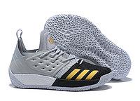Кроссовки баскетбольные Adidas Harden Vol.2 Grey Black Gold