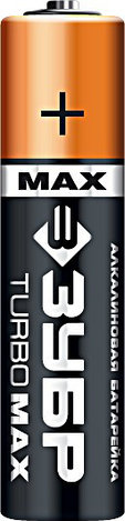 Щелочная батарейка 1.5 В, тип ААА, 4 шт, ЗУБР Turbo-MAX, фото 2