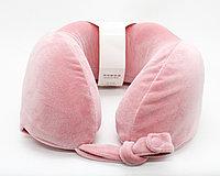 Подушка для путешествий, розовая, 24 см